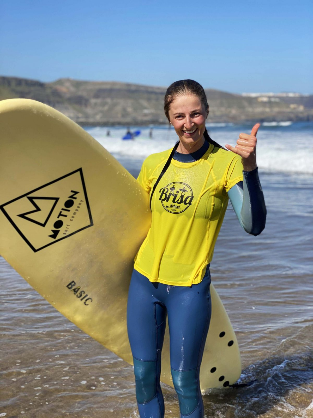 surfer posing-feel-surf-camp-las-palmas